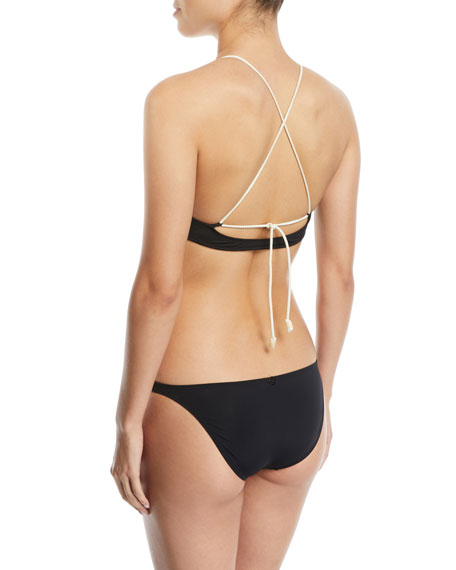 Julie Brigitte V-Neck Rope-Halter Swim Top