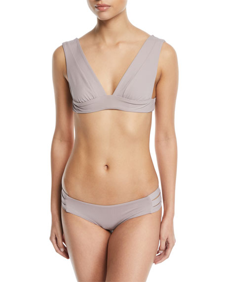 Magnolia V-Neck Solid Swim Top