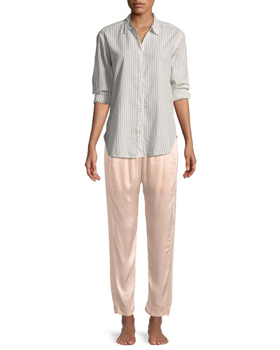 Beau Striped Lounge Shirt and Matching Items