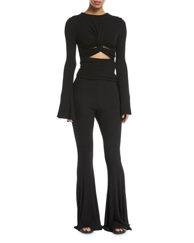 Margaux Twist-Front Bell-Sleeve Top and Matching Items