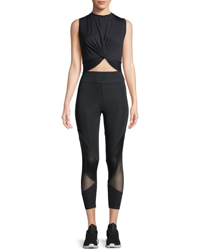 Xiamara Twist-Front Sleeveless Crop Top and Matching Items