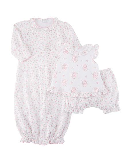 Little Girls Dreams Convertible Pima Gown, Size Newborn-S