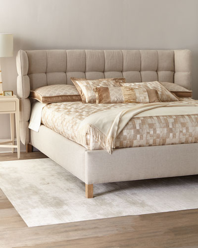 Maya Tufted King Shelter Bed  and Matching Items