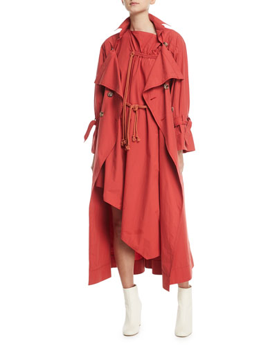 Gallery Long-Sleeve Belted Cotton Dress and Matching Items