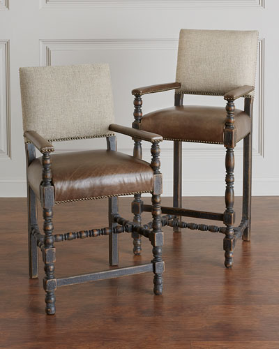 Casella Leather Counter Stool  and Matching Items