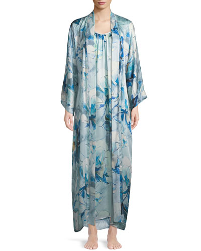 Swept Away Long Silk Nightgown and Matching Items