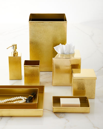 Tiset Brush Holder, Gold  and Matching Items
