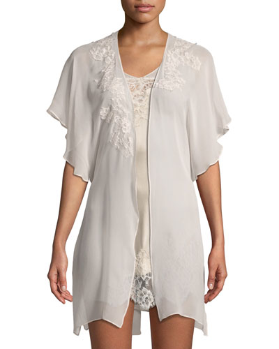 Beloved Lace-Appliqué Chiffon Robe and Matching Items