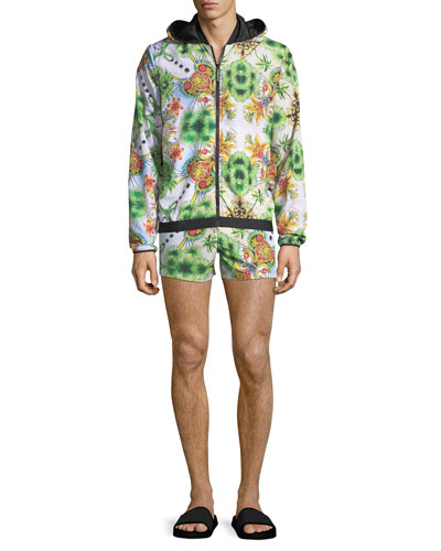 Miami-Print Zip-Front Jacket and Matching Items