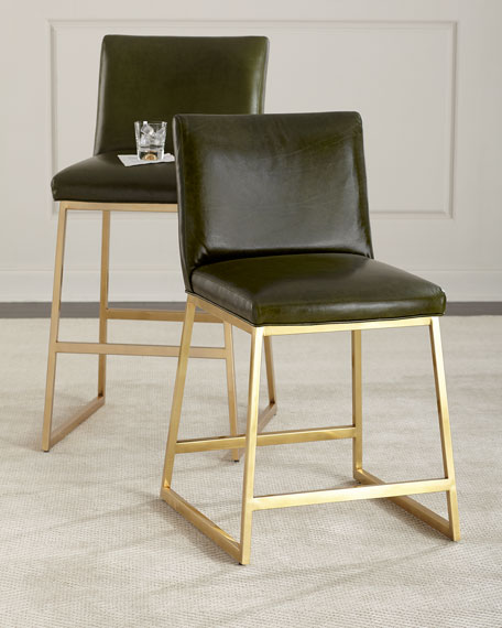 Reza Brass Counter Stool