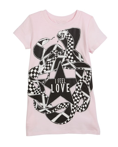 I Feel Love Snakes Jersey Shirt Dress, Size 4-5 and Matching Items