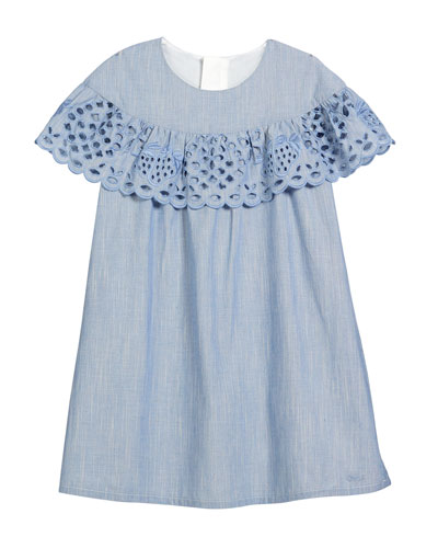 Strawberry Eyelet Ruffle Dress, Size 2-5  and Matching Items