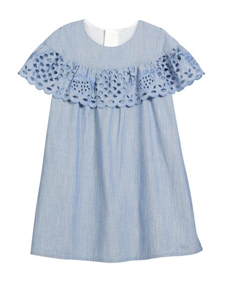 Strawberry Eyelet Ruffle Dress, Size 2-5