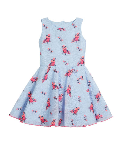 Textured Floral Organza Pocket Dress, Size 2-6X and Matching Items