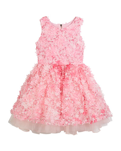 3D Flower Party Dress, Size 2-6X and Matching Items