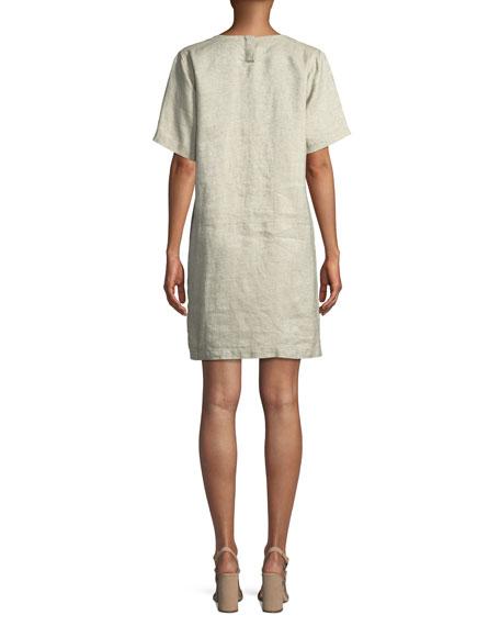 Twinkle Organic Linen Shift Dress, Petite