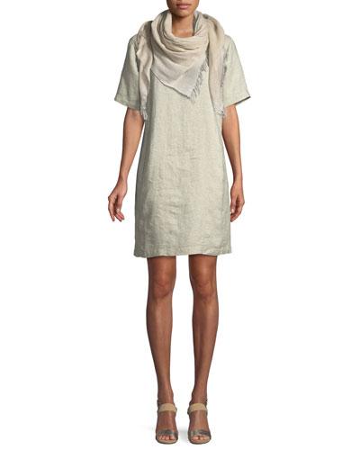 Twinkle Organic Linen Shift Dress, Petite and Matching Items