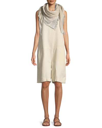 Sleeveless Organic Linen Short Jumpsuit  and Matching Items
