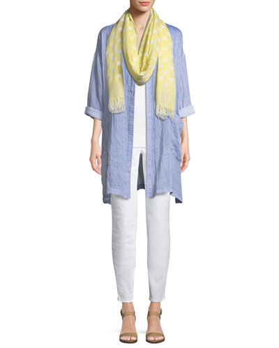 Polka Dot Cotton-Blend Scarf and Matching Items