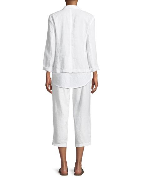 Organic Linen Blazer, Plus Size