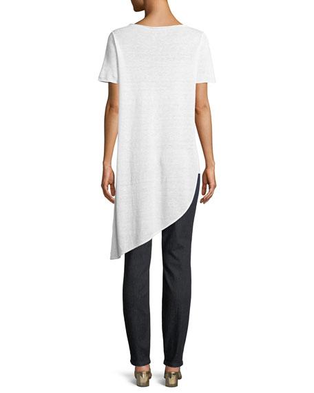 Organic Linen Knit Asymmetric Tunic