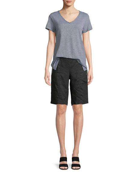 Organic Linen Striped Jersey Top