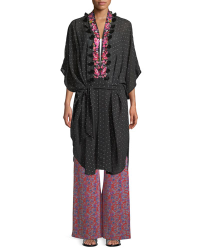 Amira Aztec-Dot Kaftan-Style Jacket and Matching Items