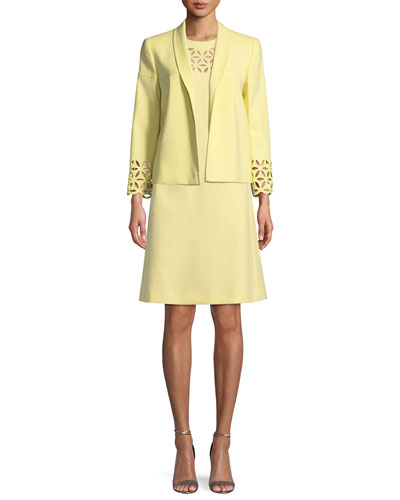 Broderie Anglaise Short-Sleeve A-Line Dress and Matching Items