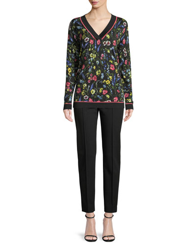 V-Neck Long-Sleeve Floral-Print Pullover Tunic and Matching Items
