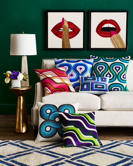 Lipstick Beaded Wall Art