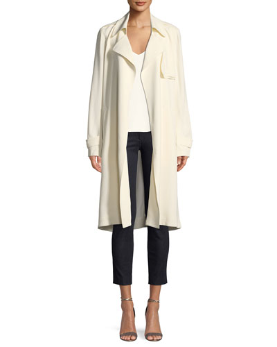 Oaklane WS Belted Rosina Crepe Trench Coat and Matching Items
