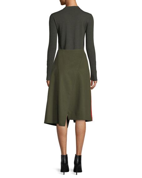 Rib-Knit Merino Wool Sweater