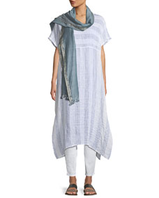 Eileen Fisher Gauze Striped Organic Linen V Neck Dress And Matching Items by Eileen Fisher