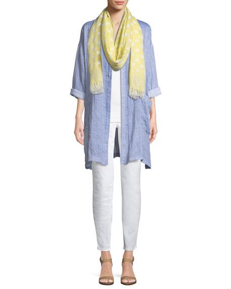 Crinkle Gauze Kimono Coat
