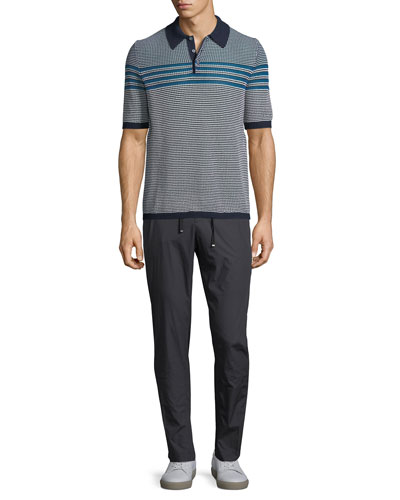 Men's Horizontal-Striped Polo Shirt and Matching Items