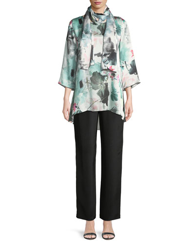 Paradise Found Floral-Print Silk Party Top and Matching Items