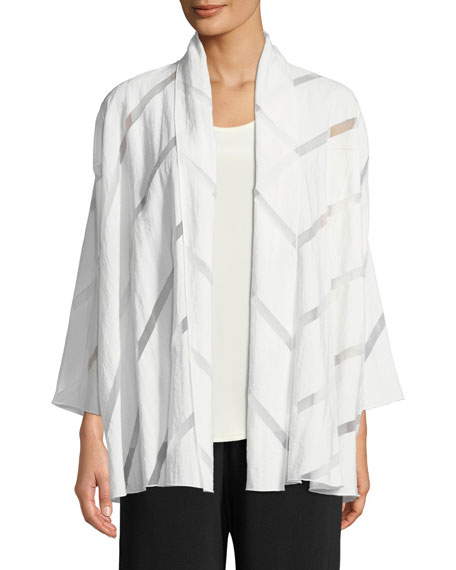 White Out Burnout Midi Cardigan, Plus Size