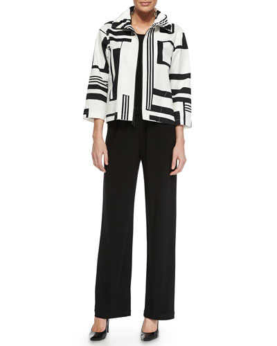 Wild Card Ruched-Collar Zip-Front Jacket , Plus Size and Matching Items