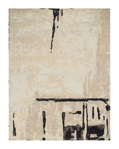Abstrait Sea Sand Hand-Knotted Rug, 10' x 14' and Matching Items