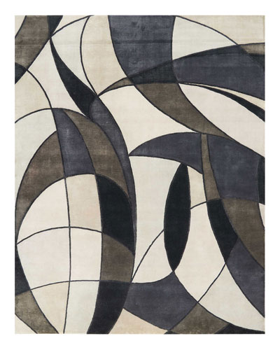 Asymetrie Mediterranean Hand-Knotted Rug, 10' x 14' and Matching Items