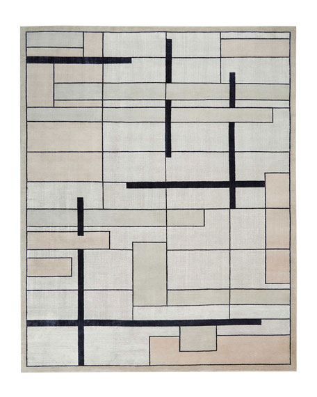 Avenue Silvery Moon Hand-Knotted Rug, 10' x 14'