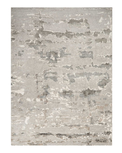 Aquarelle Natural Truffle Hand-Knotted Rug, 10' x 14' and Matching Items
