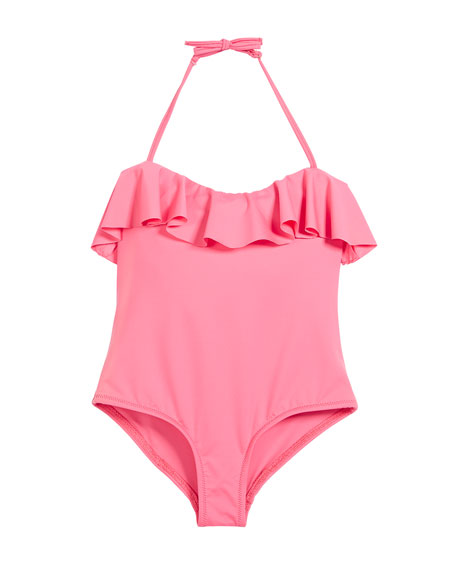 Ruffle Top One-Piece Swimsuit, Size 4-7