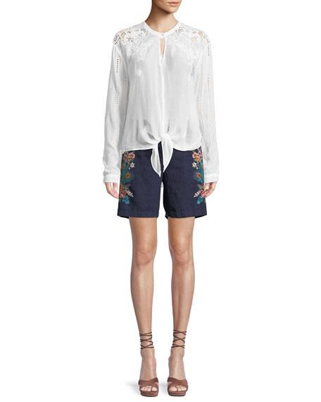 Heidine Tie-Waist Blouse, Plus Size