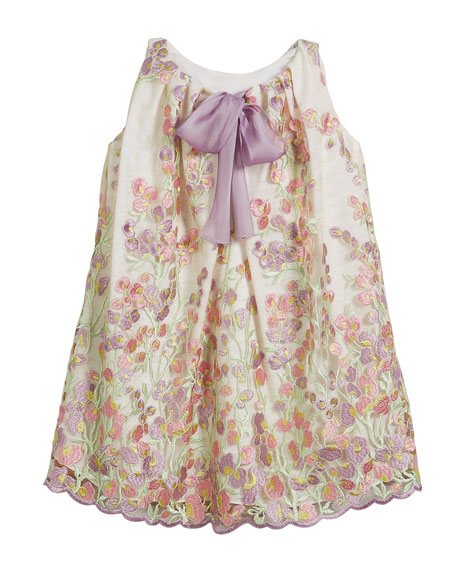 Embroidered Sweet Pea Lace Dress, Size 12-18 Months