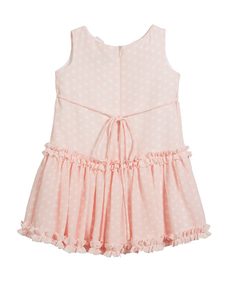 Pretty in Pink Polka-Dot Ruffle Dress, Size 2-6