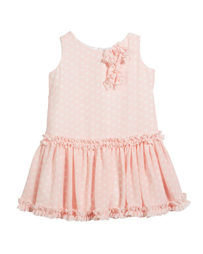 Pretty in Pink Polka-Dot Ruffle Dress, Size 2-6 and Matching Items