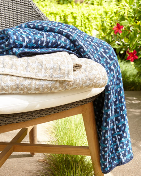 Neutrals Retro Outdoor Throw Blanket