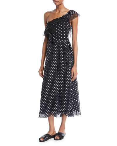 Dot-Print Coverup Wrap Skirt and Matching Items