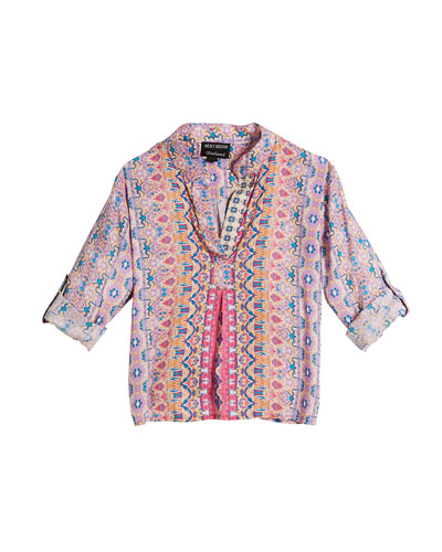 Iris Ikat-Print Silk Tunic and Matching Items